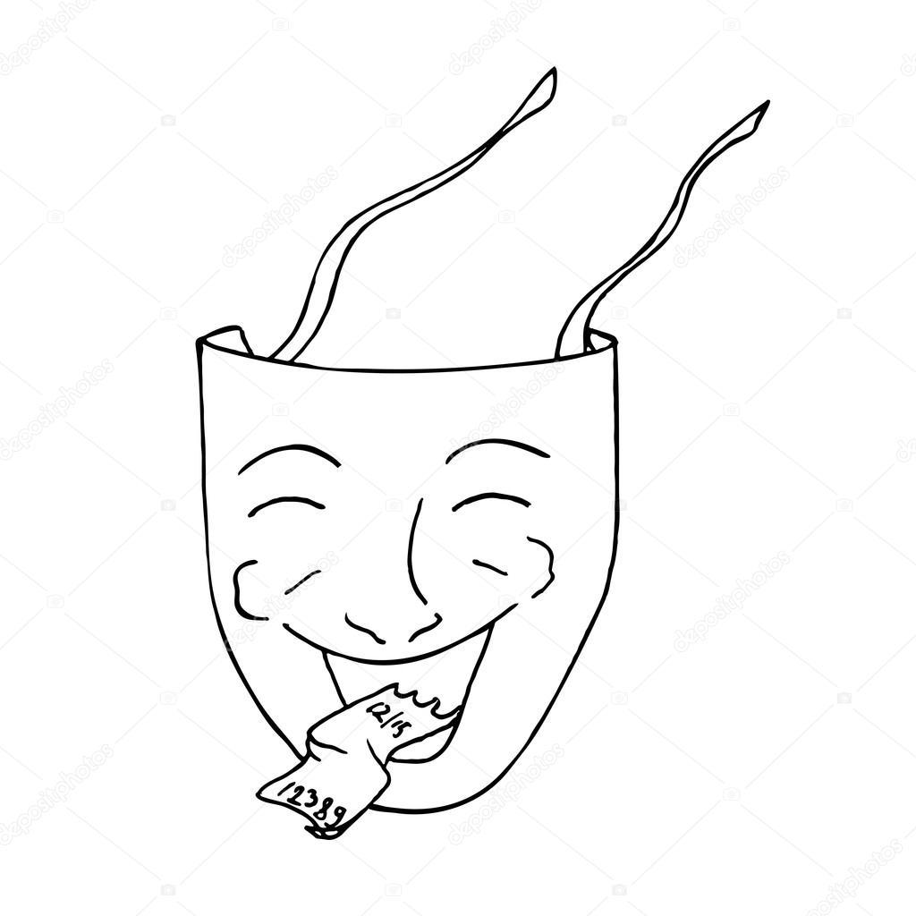 Komedi Tiyatro Maskesi Stok Vektör Hlivnykagmailcom 119076340