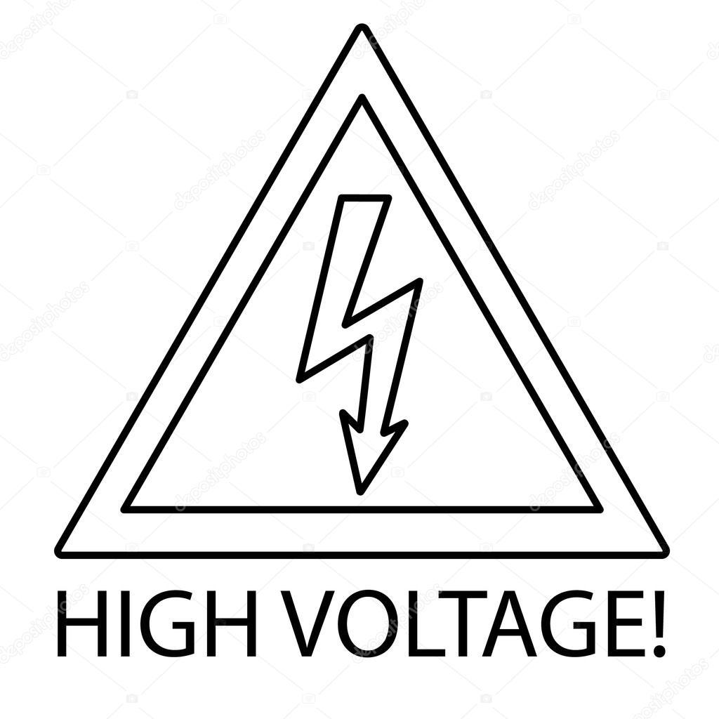 segno ad alta tensione  simbolo di pericolo  u2014 vettoriali