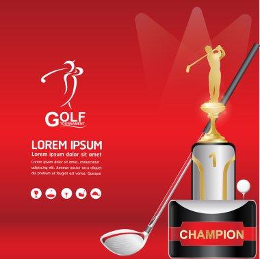 Golf  Vector Concept Golf Tournament World