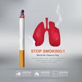 A világ nem dohány nap vektor-koncepció a dohányzásról való leszokásban
