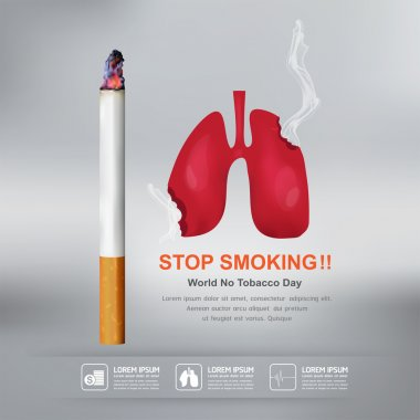 World No Tobacco Day Vector Concept Stop Smoking