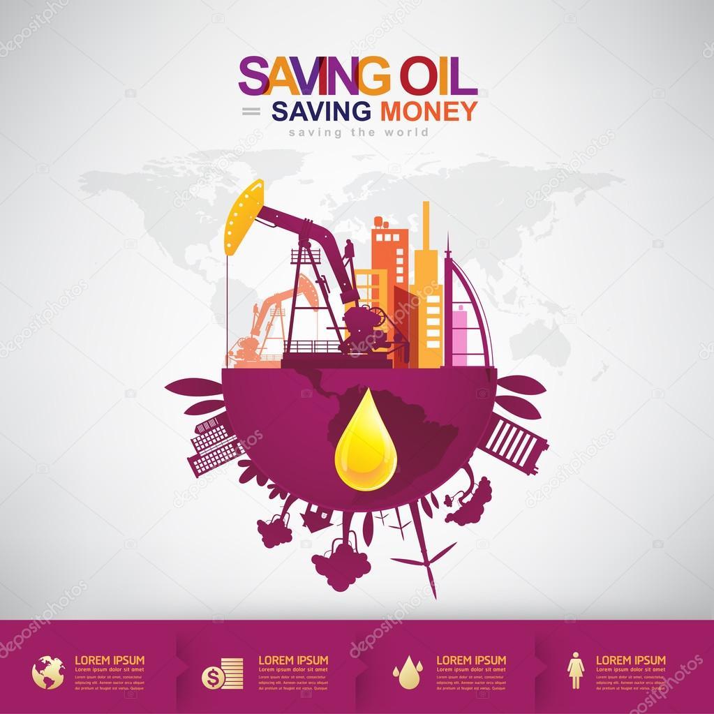 Saving oil saving money