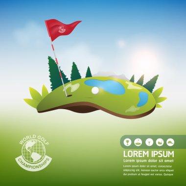 Golf Ball Vector Concept Golf Tournament World