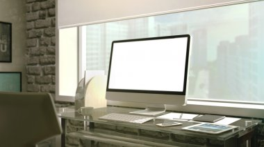 Workplace with modern technologies