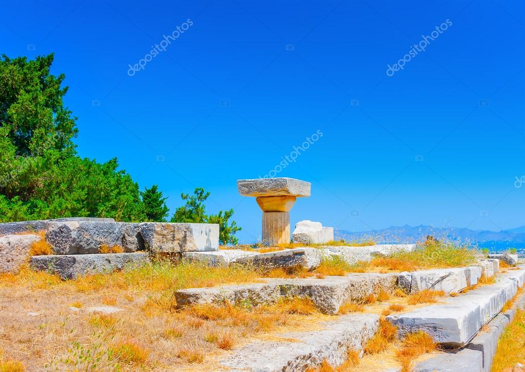 Ruins at Asclepium in Greece