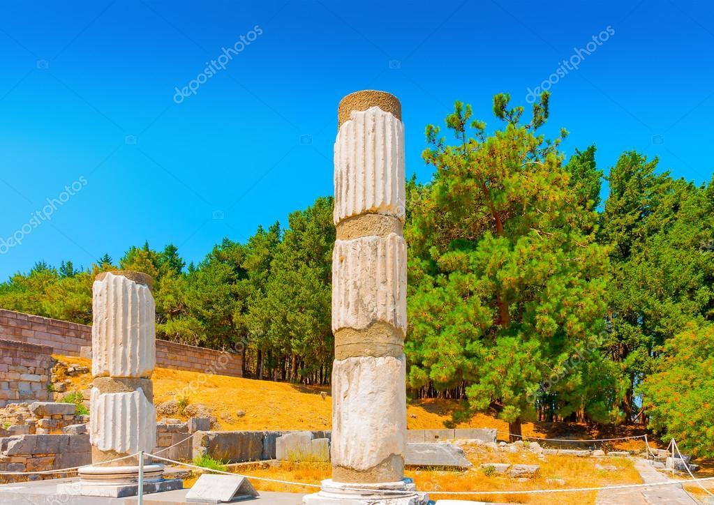 ancient columns at Asclepium