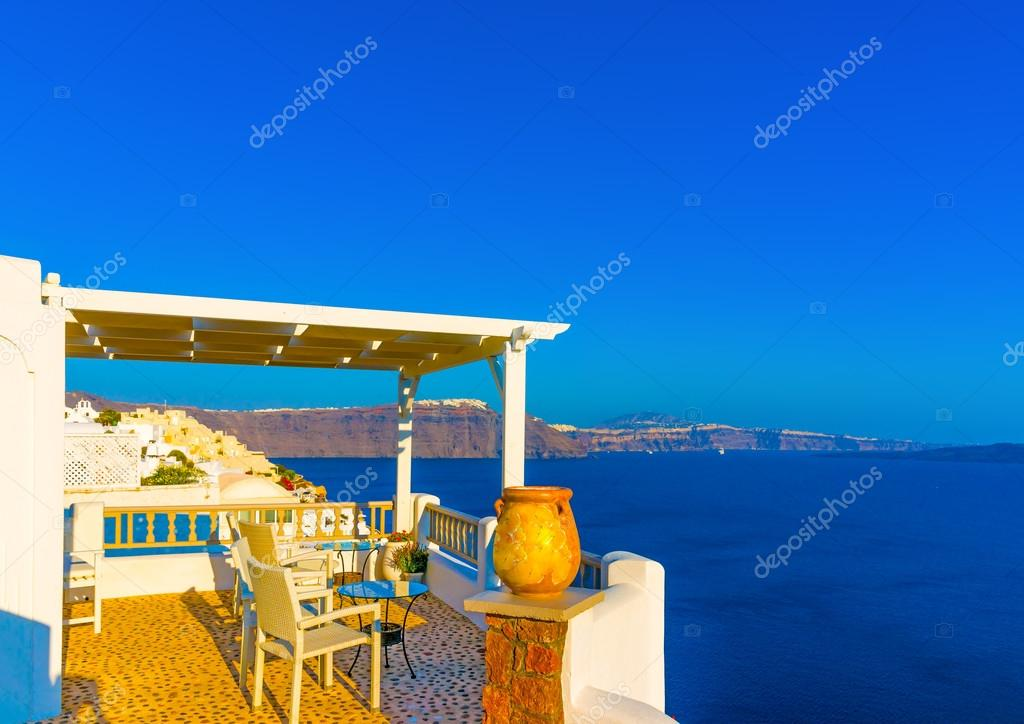 View from a terrace in Greece
