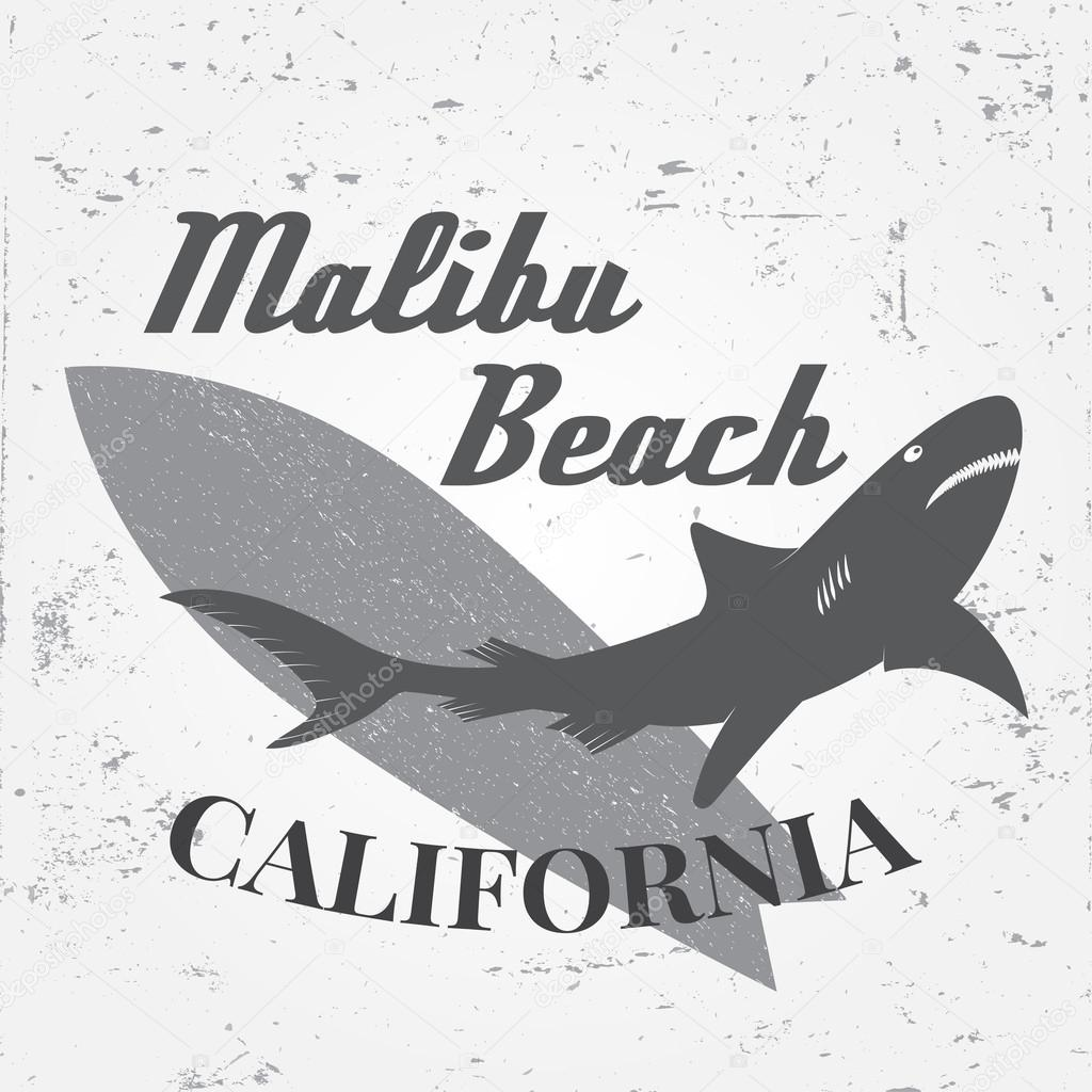 Set Of Vintage Surfing Graphics And Emblem For Web Design Or Print Surfer Beach