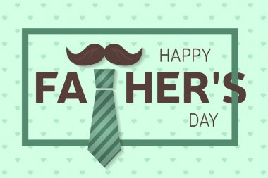 Happy Fathers Day greeting card. Happy Fathers Day poster. Vector illustration.