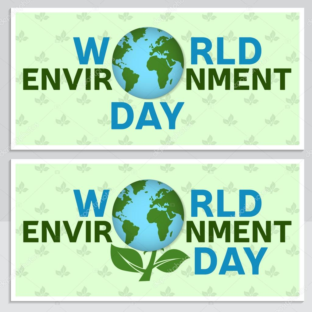World Environment Day Greeting Card Flyer World Environment Day Poster Banner For Website Template Vector Illustration Stock Vector C Serdiuk Igor Gmail Com 112141376
