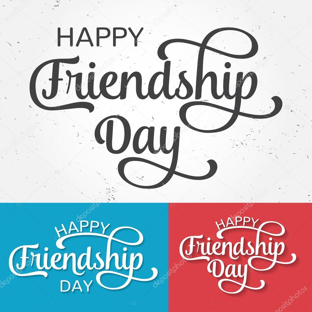 Happy Friendship Day Greeting Card For Poster Flyer Banner For