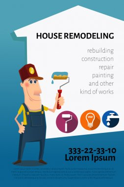 House remodeling business card or banner
