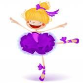 Ilustrace šťastná malá víla baletka