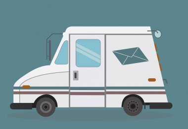 White truck to deliver mail