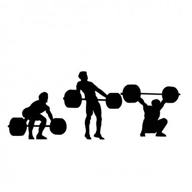 Weightlifting - snatch vector illustration