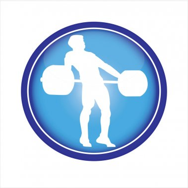 Weightlifter pressing weights in snatch-icon