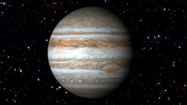 Jupiter a mozgó csillag-Backgrund forgó. Loopable