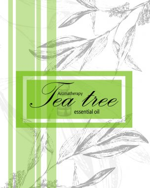 label for essential oil of tea tree