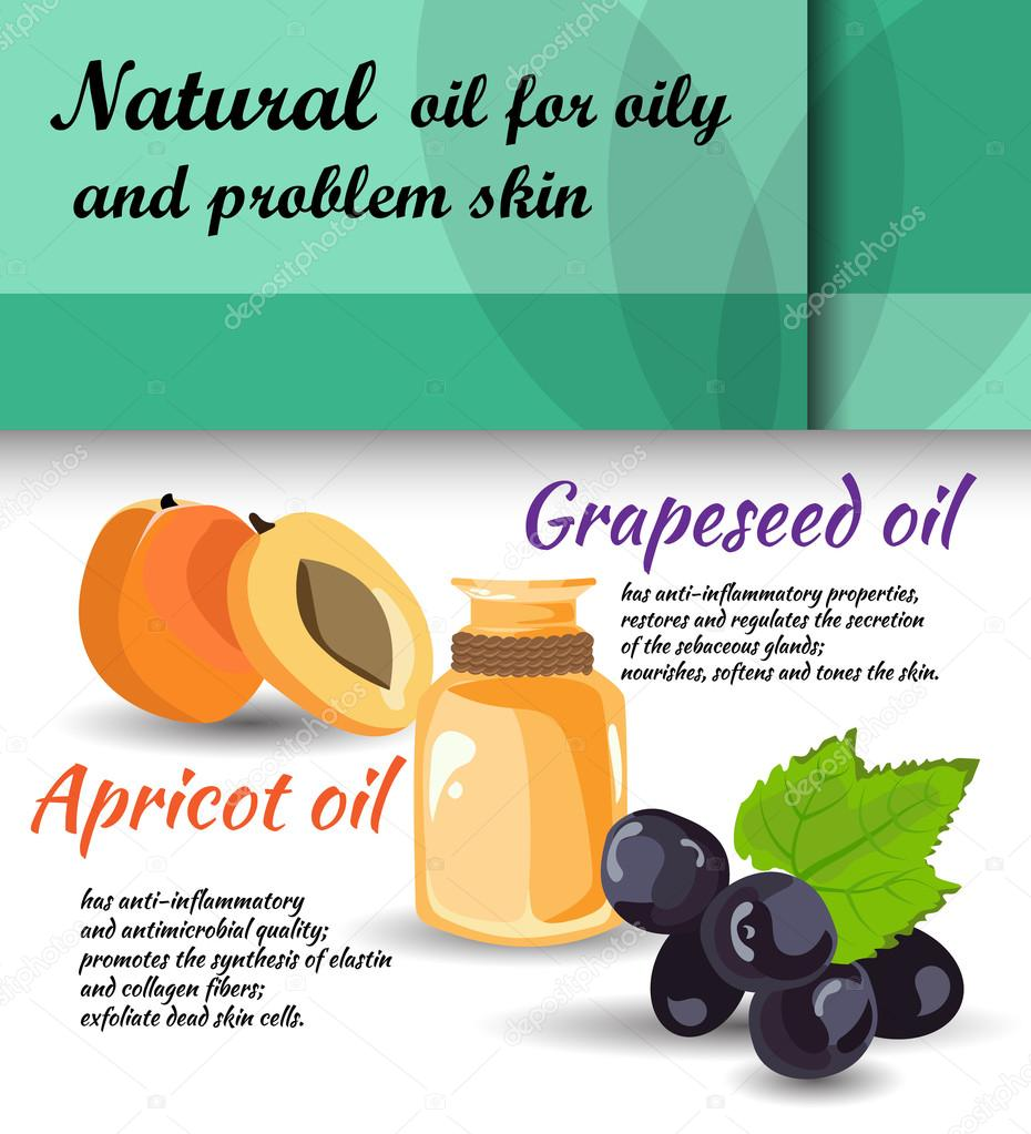 care for oily skin vector illustration