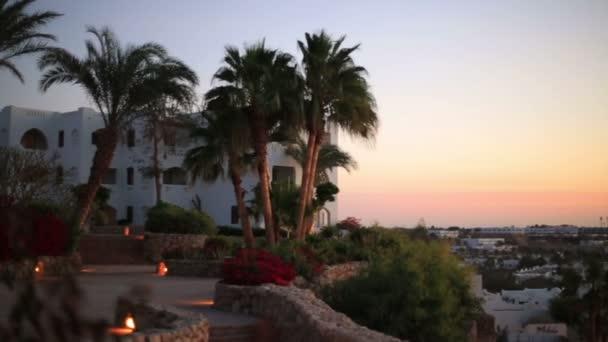 Krásná krajina Hurghada v Egyptě na sunset