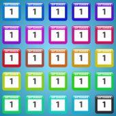 Sada vektorové ikony kalendáře