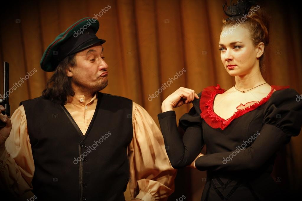 Image of: Hardy Chehov Comedy Conflict Kostuum Regie Oude Tijd Ouderwetse Play Russische Theater Foto Van Maslovskiy Chehov Comedy Oldfashioned Play Russian Theater 26 Stockfoto