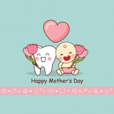 Happy Mother Day with teeth