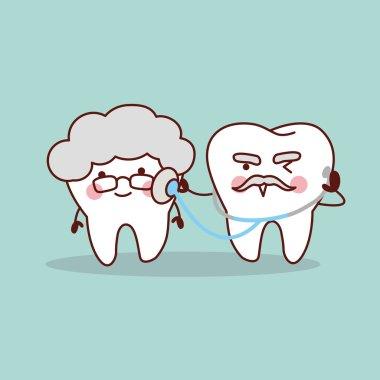 senior tooth with stethoscope