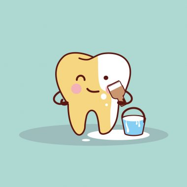 tooth whitening and bleaching concept
