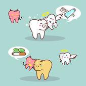 Fényképek whit fogak vs barna fogak