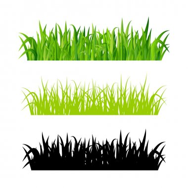 Vector grass borders set