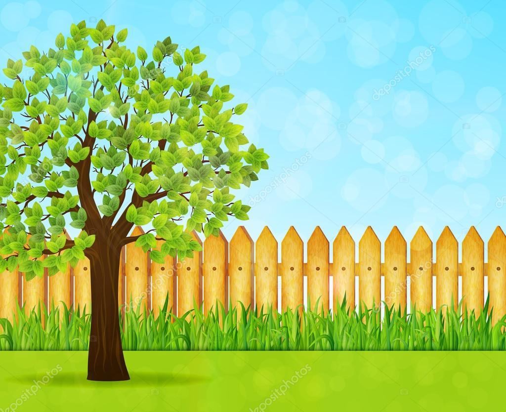 Animated garden background