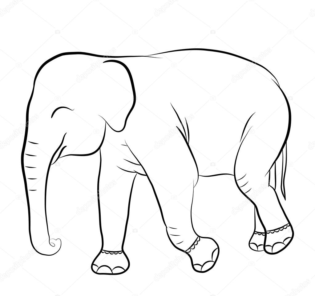 Fotos Elefantes Para Dibujar Silueta De Elefante Para Colorear