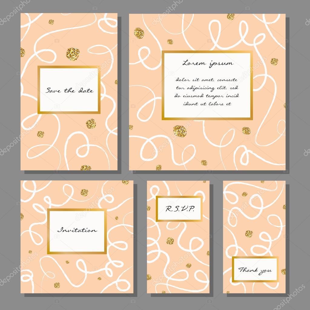 Hochzeit, Jubiläum, Geburtstag, Urlaub, Party. Design Für Poster, Karten,  Einladung. Mit Golden Glitter Textur U2014 Vektor Von Dinaraenamel.gmail.com