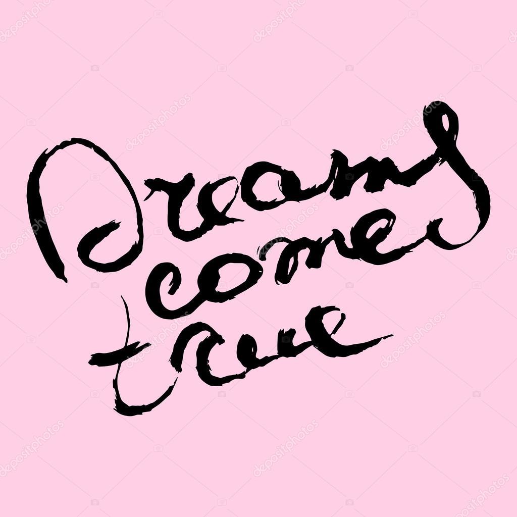 Cartaz De Rotulação De Desenhar Mão única Com Uma Frase De Sonhos Em