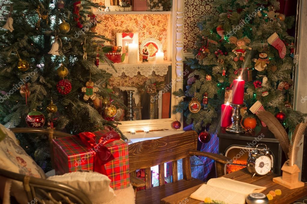 Immagini Natalizie Con Camino.Fotografie Di Natale Con Camino Decorazione Di Natale Con