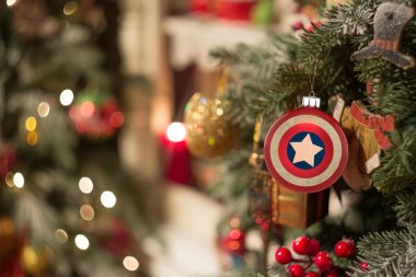 Christmas ornament captain America