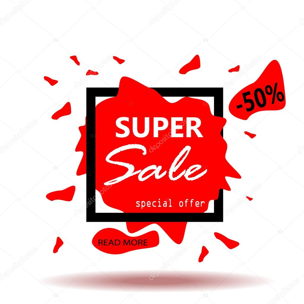 super sale banner abstract frame background sale text sale