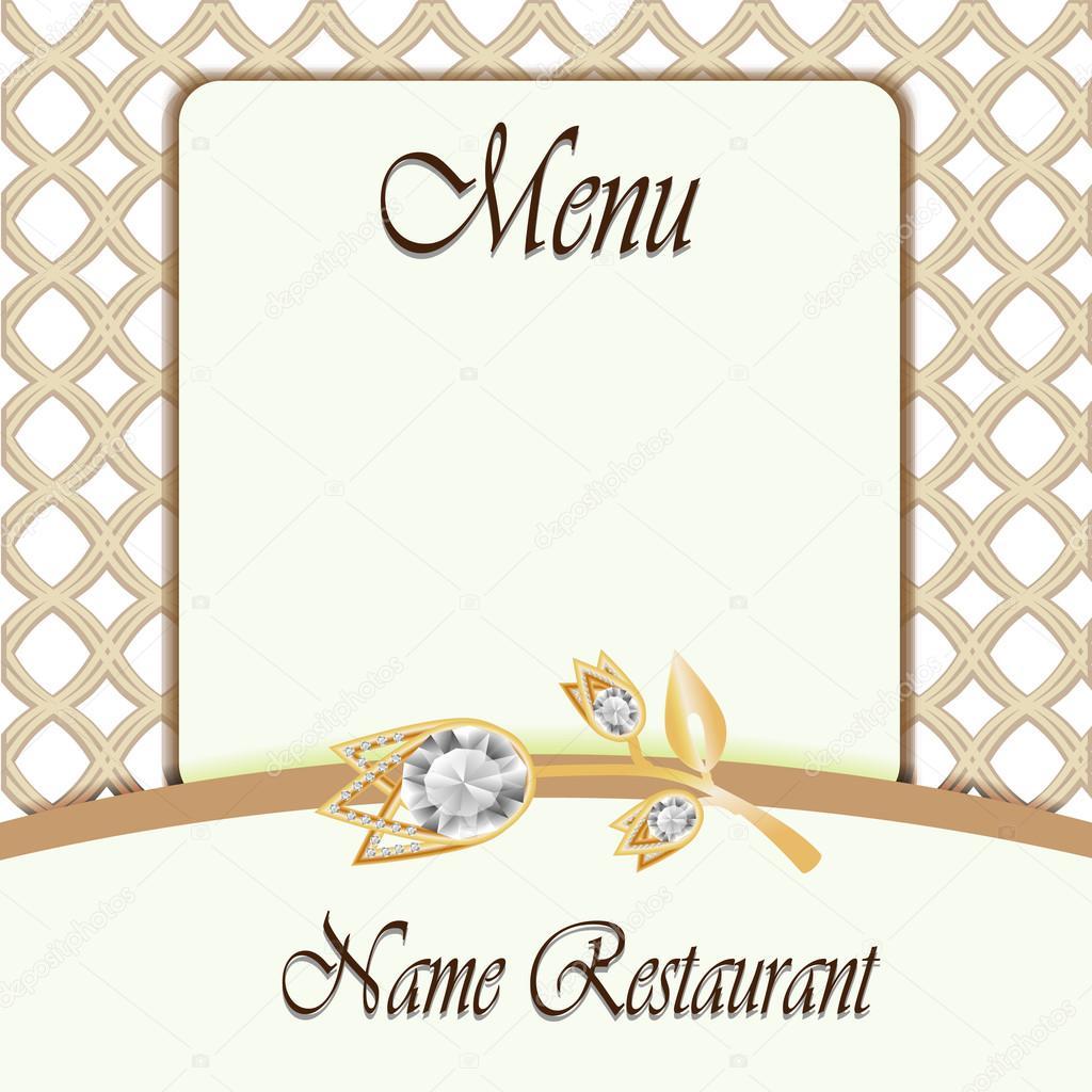 Menü-Design. Schmuck-Menü. Restaurant-Menü-Vorlage — Stockvektor ...