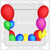 Frame with multicolored balloons. Balloons background. Invitation card. Vector illustration.