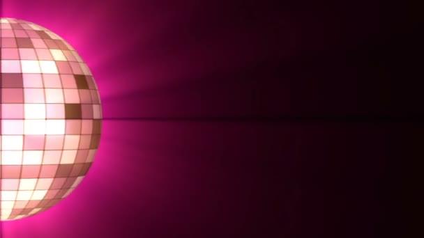 Disco Ball. Halb disco ball violet color and shine. Looping