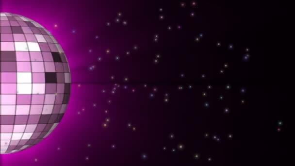 Disco labdát. Halb disco labdát a tér részecske. Hurok