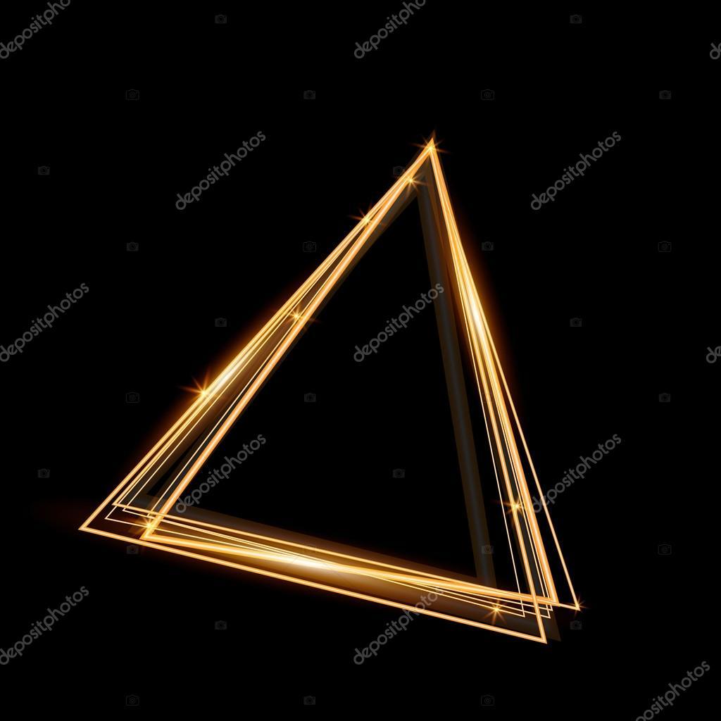 Marco brillante del triángulo dorado. Resumen de antecedentes ...