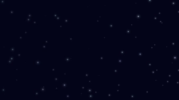 Stelle Nel Cielo Looping Bella Notte Con Scintillanti Catrami Hd