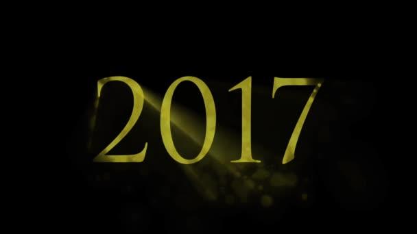 2017 év. Arany animáció. 2017 év fényét