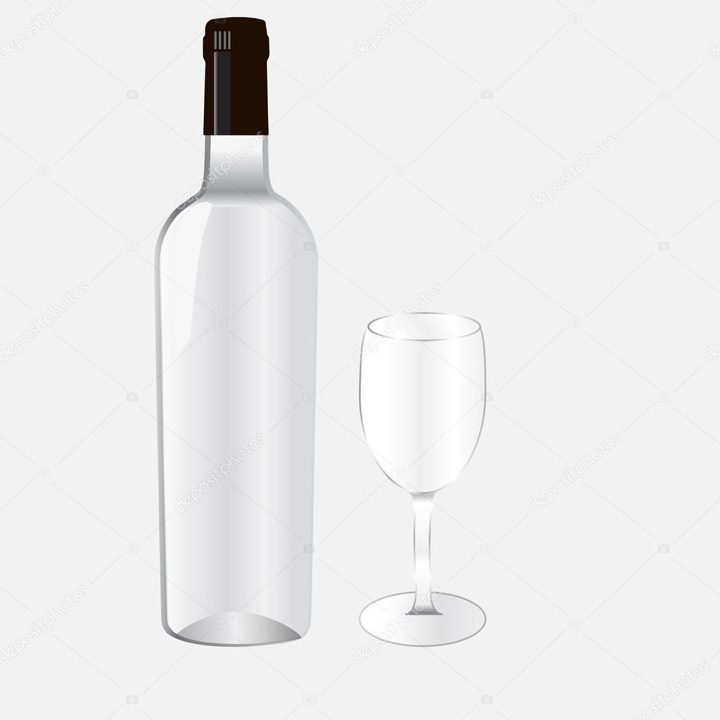 bottel and glass stock vector rabotainternet82 gmail com 95843432