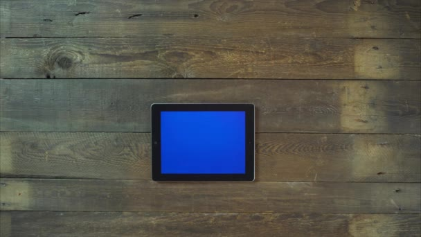 Swipes Left Hand Digital Tablet with Blue Screen