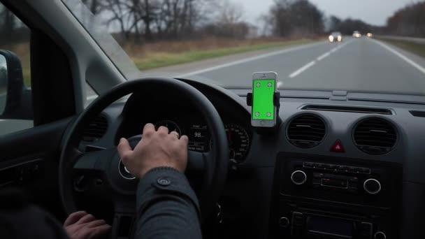Navigációs rendszer eszköztár közúti autók Chroma Key