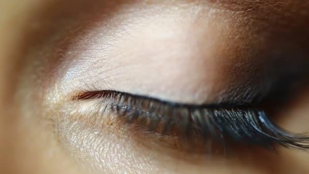 Ženské oko, close-up makro