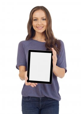 Teenager with a digital tablet